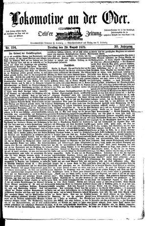 Lokomotive an der Oder vom 20.08.1878