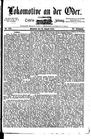 Lokomotive an der Oder vom 21.08.1878