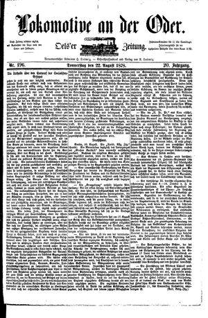 Lokomotive an der Oder vom 22.08.1878