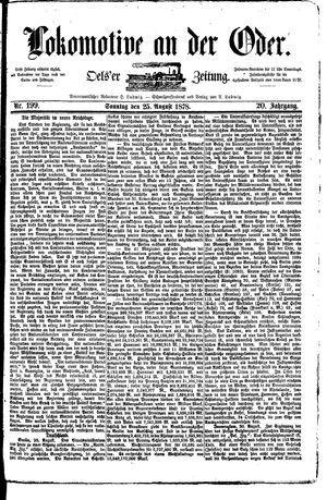 Lokomotive an der Oder vom 25.08.1878
