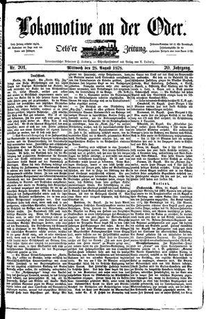 Lokomotive an der Oder vom 28.08.1878