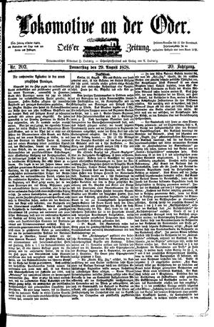 Lokomotive an der Oder vom 29.08.1878
