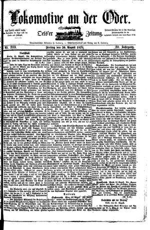 Lokomotive an der Oder vom 30.08.1878