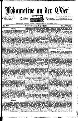 Lokomotive an der Oder vom 31.08.1878