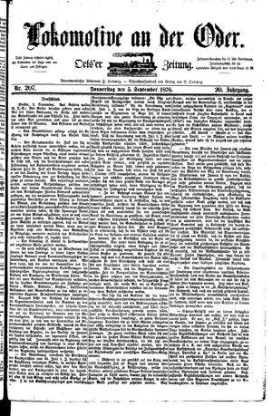 Lokomotive an der Oder on Sep 5, 1878