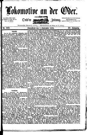 Lokomotive an der Oder vom 07.09.1878