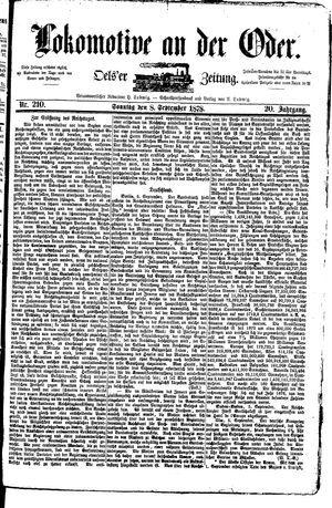 Lokomotive an der Oder vom 08.09.1878