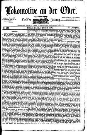 Lokomotive an der Oder vom 11.09.1878