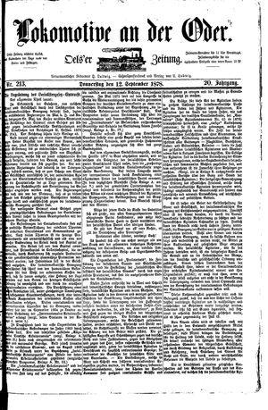 Lokomotive an der Oder vom 12.09.1878