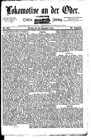 Lokomotive an der Oder on Sep 13, 1878