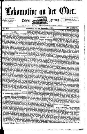 Lokomotive an der Oder vom 14.09.1878