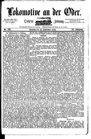 Lokomotive an der Oder vom 15.09.1878
