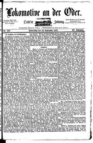 Lokomotive an der Oder vom 19.09.1878