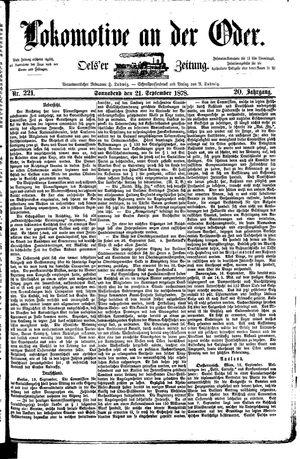 Lokomotive an der Oder vom 21.09.1878