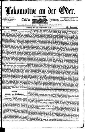 Lokomotive an der Oder vom 24.09.1878