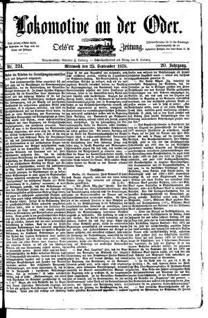 Lokomotive an der Oder vom 25.09.1878
