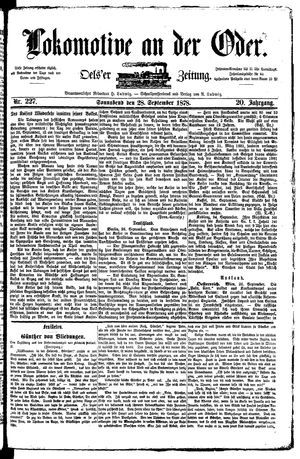 Lokomotive an der Oder vom 28.09.1878