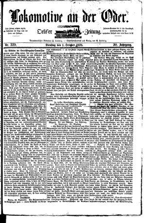 Lokomotive an der Oder vom 01.10.1878