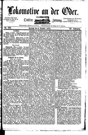 Lokomotive an der Oder vom 04.10.1878