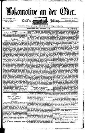 Lokomotive an der Oder vom 05.10.1878
