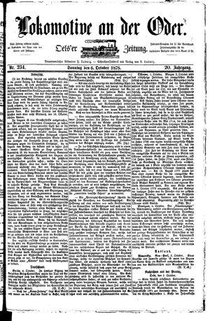 Lokomotive an der Oder vom 06.10.1878