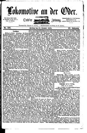 Lokomotive an der Oder vom 11.10.1878