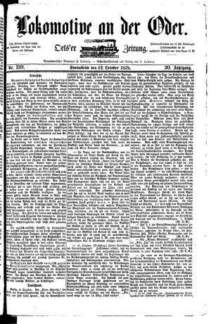Lokomotive an der Oder on Oct 12, 1878
