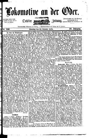 Lokomotive an der Oder vom 13.10.1878