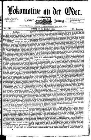 Lokomotive an der Oder vom 15.10.1878