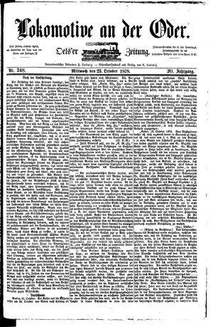 Lokomotive an der Oder vom 23.10.1878