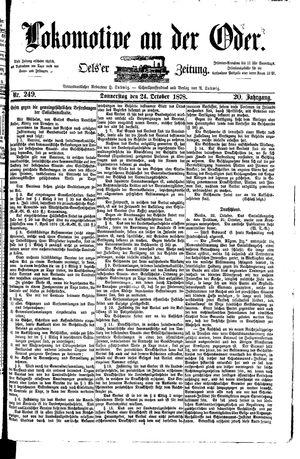Lokomotive an der Oder vom 24.10.1878