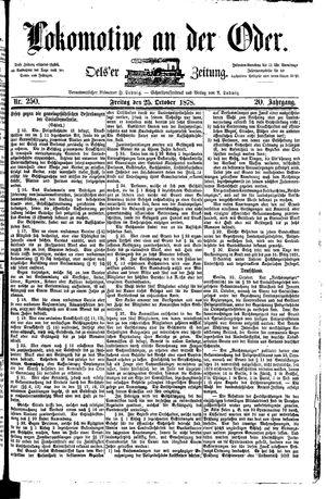 Lokomotive an der Oder vom 25.10.1878