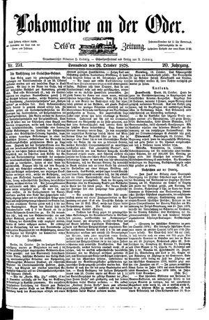 Lokomotive an der Oder vom 26.10.1878