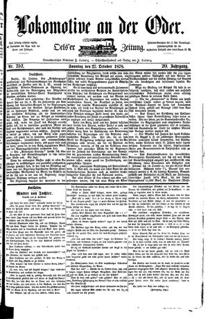 Lokomotive an der Oder vom 27.10.1878