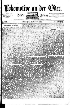 Lokomotive an der Oder vom 30.10.1878