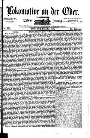 Lokomotive an der Oder vom 01.11.1878