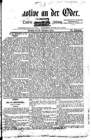 Lokomotive an der Oder vom 31.12.1878