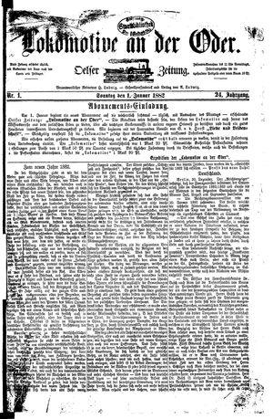 Lokomotive an der Oder vom 01.01.1882