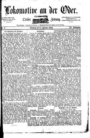 Lokomotive an der Oder vom 08.01.1882