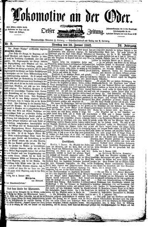 Lokomotive an der Oder vom 10.01.1882