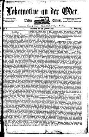 Lokomotive an der Oder vom 11.01.1882