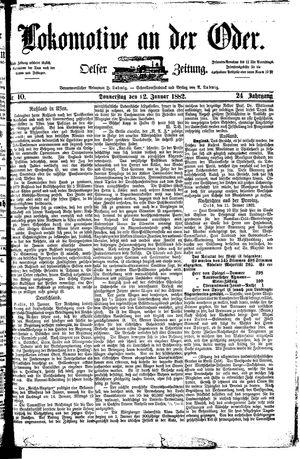 Lokomotive an der Oder vom 12.01.1882