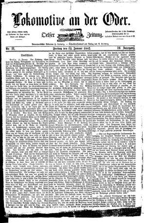 Lokomotive an der Oder on Jan 13, 1882