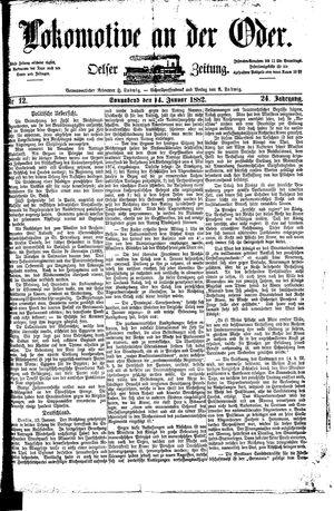 Lokomotive an der Oder vom 14.01.1882