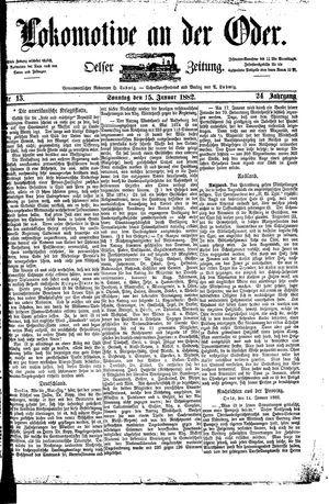 Lokomotive an der Oder vom 15.01.1882