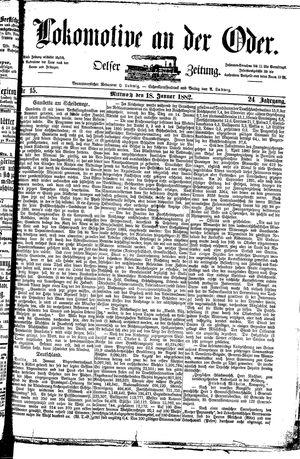 Lokomotive an der Oder vom 18.01.1882