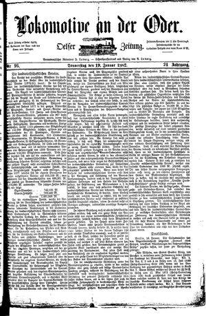 Lokomotive an der Oder vom 19.01.1882