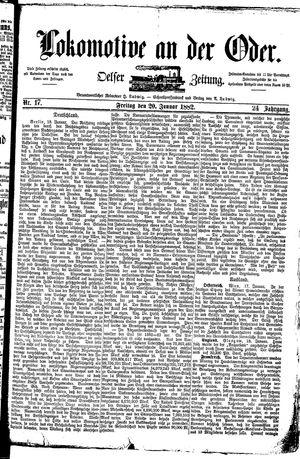 Lokomotive an der Oder vom 20.01.1882