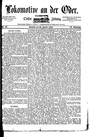 Lokomotive an der Oder vom 22.01.1882