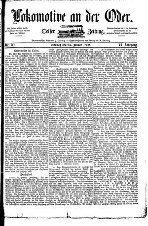 Lokomotive an der Oder vom 24.01.1882